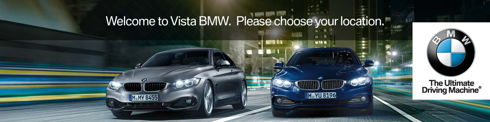 Choose Your Vista BMW Location